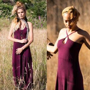 Priestess and deer tie dye maxi dress